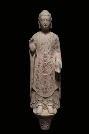 A VINTAGE BUDDHA STATUE