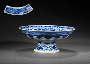 A PORCELAIN HIGH-FOOTED PLATE