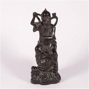 A ZITAN WOOD BUDDHA STATUE