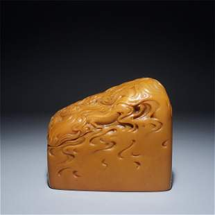 AN INSCRIBED TIANHUANG STONE SEAL