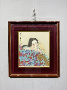 A CHINESE LADY PORTRAIT PAINTING