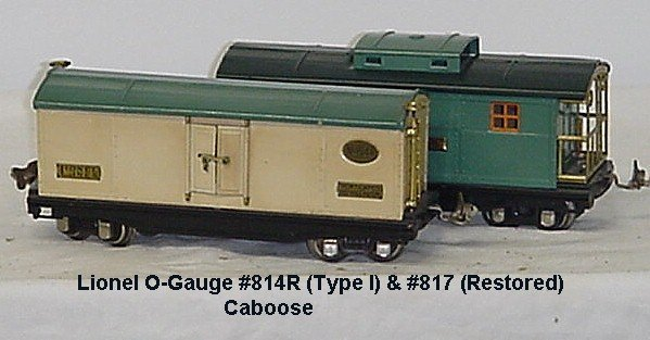 72: 1 (2) LIONEL O-GAUGE FREIGHT S CARS - #814R (TYPE I