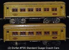 105: 1 (2) DORFAN #790 STANDARD GAUGE COACH C-8