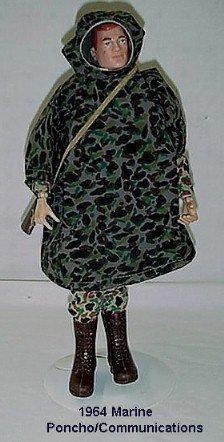 1019: 1964 HASBRO GI JOE MARINE PANCHO/COMMUNICATIONS W