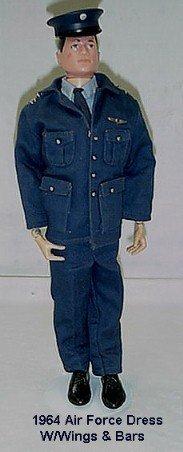 1020:      1964 HASBRO GI JOE AIR FORCE DRESS UNIFORM C