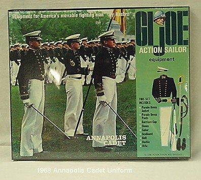 1057: 1968 HASBRO GI JOE ANNAPOLIS CADET OUTFIT IN SEAL