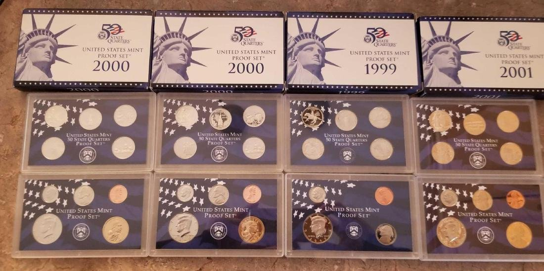 Lot of 4 United States Mint proof sets