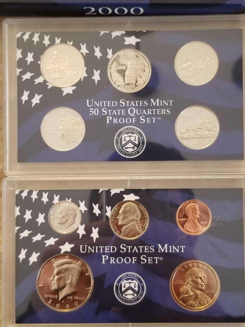 Lot of 4 United States Mint proof sets - 2