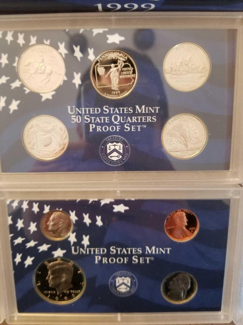 Lot of 4 United States Mint proof sets - 4