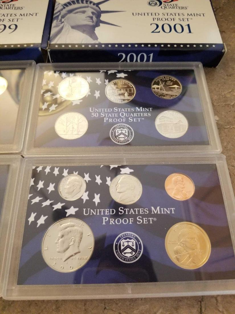 Lot of 4 United States Mint proof sets - 5