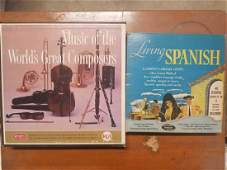 Two cased old vinyl record box sets