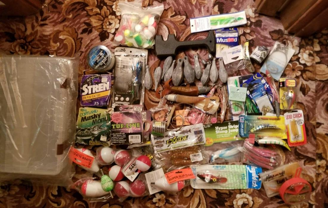 Large lot of fishing tackle