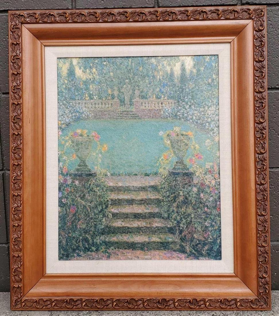After Henri Le Sidane Les Marches Du Jardin Gerberoy