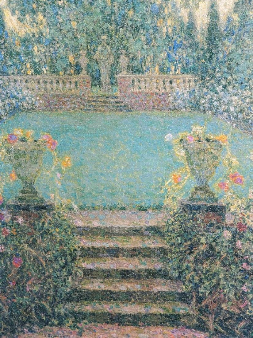 After Henri Le Sidane Les Marches Du Jardin Gerberoy - 2