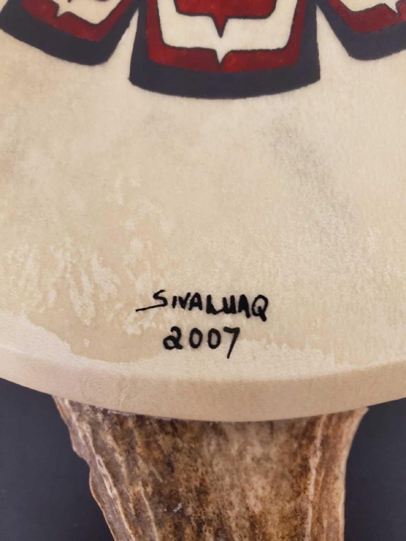 Painted Tlingit motif drum by Yup'ik Eskimo Jerry Lieb - 3