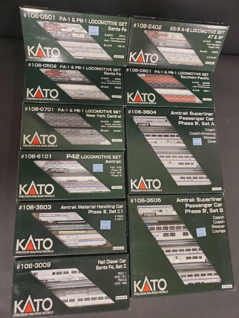 Large lot of Kato Railroad train set models