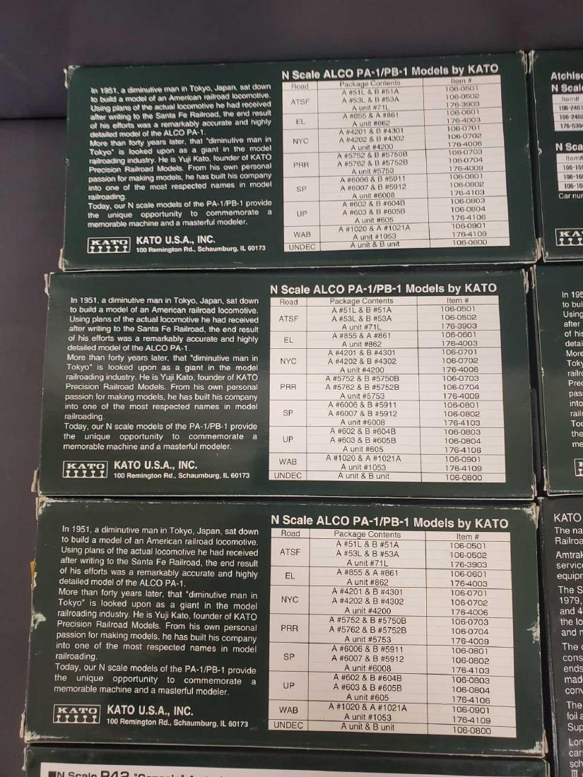 Large lot of Kato Railroad train set models - 6