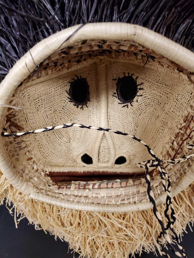 Two Panamanian handmade Embera tribe woven masks - 9
