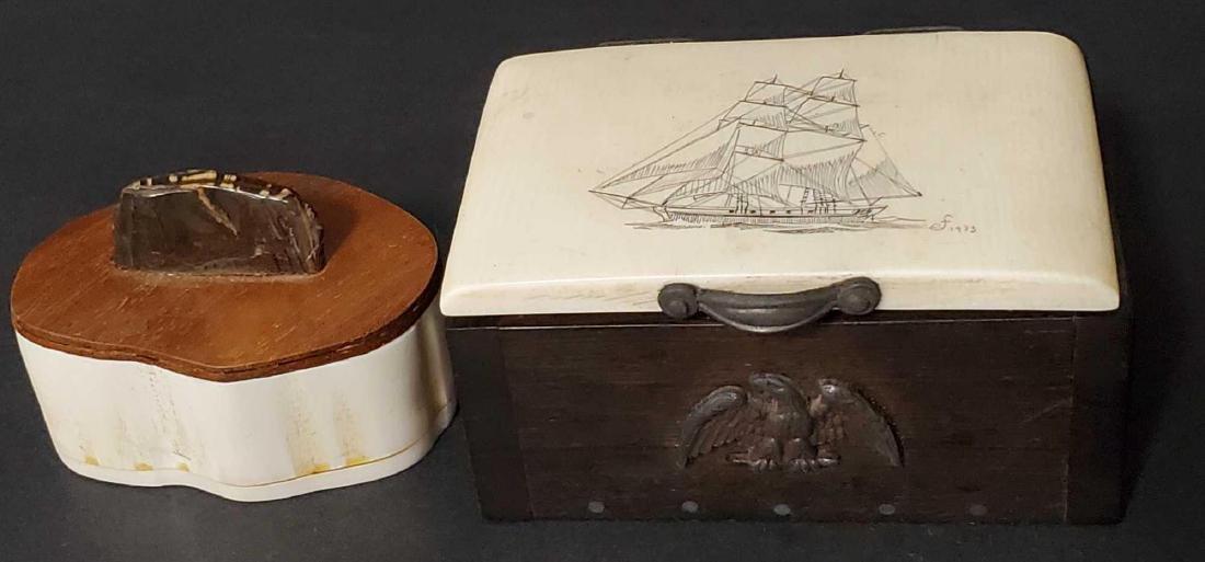 Two Alaskan trinket boxes