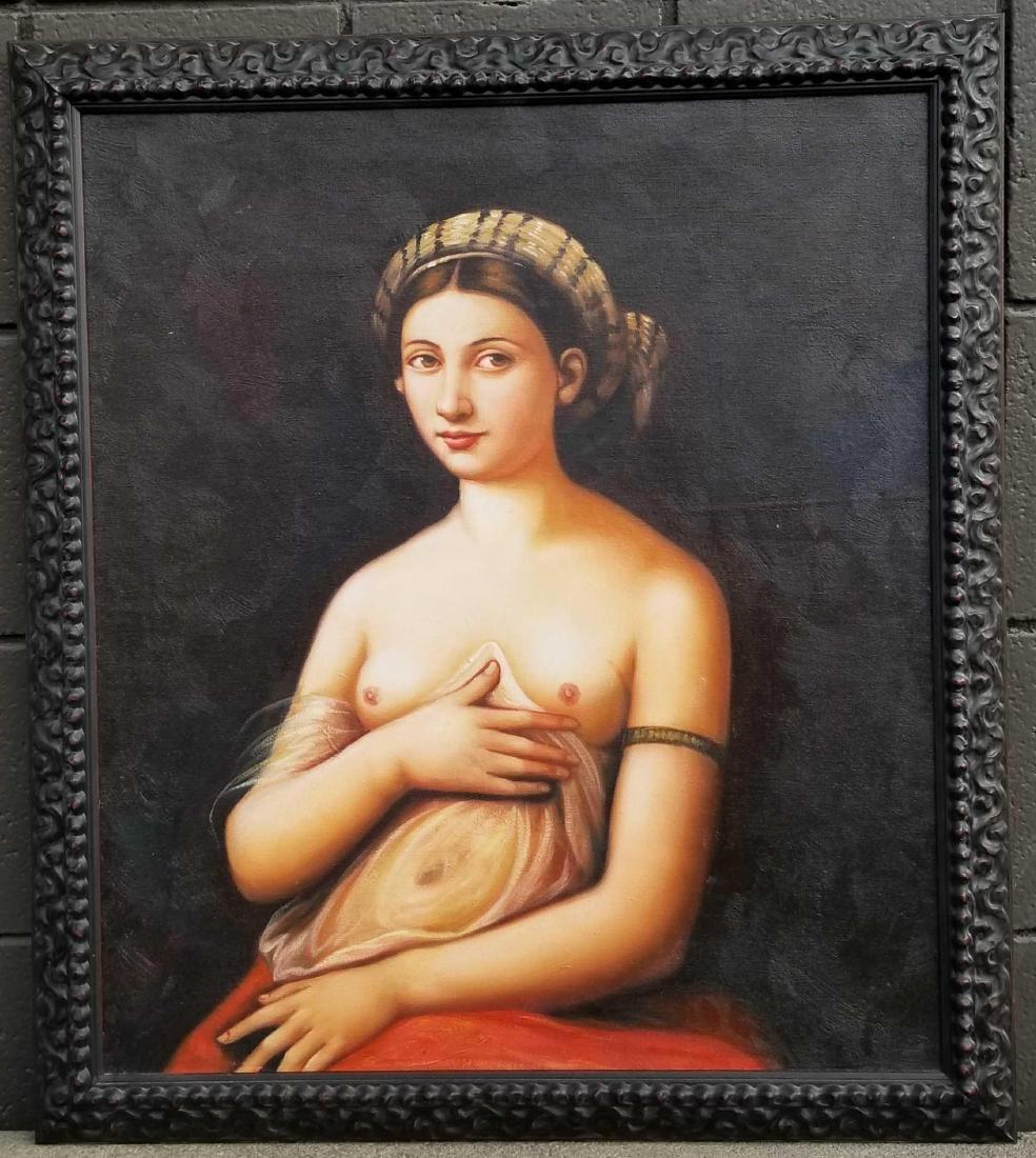 Contemporary nude original oil painting