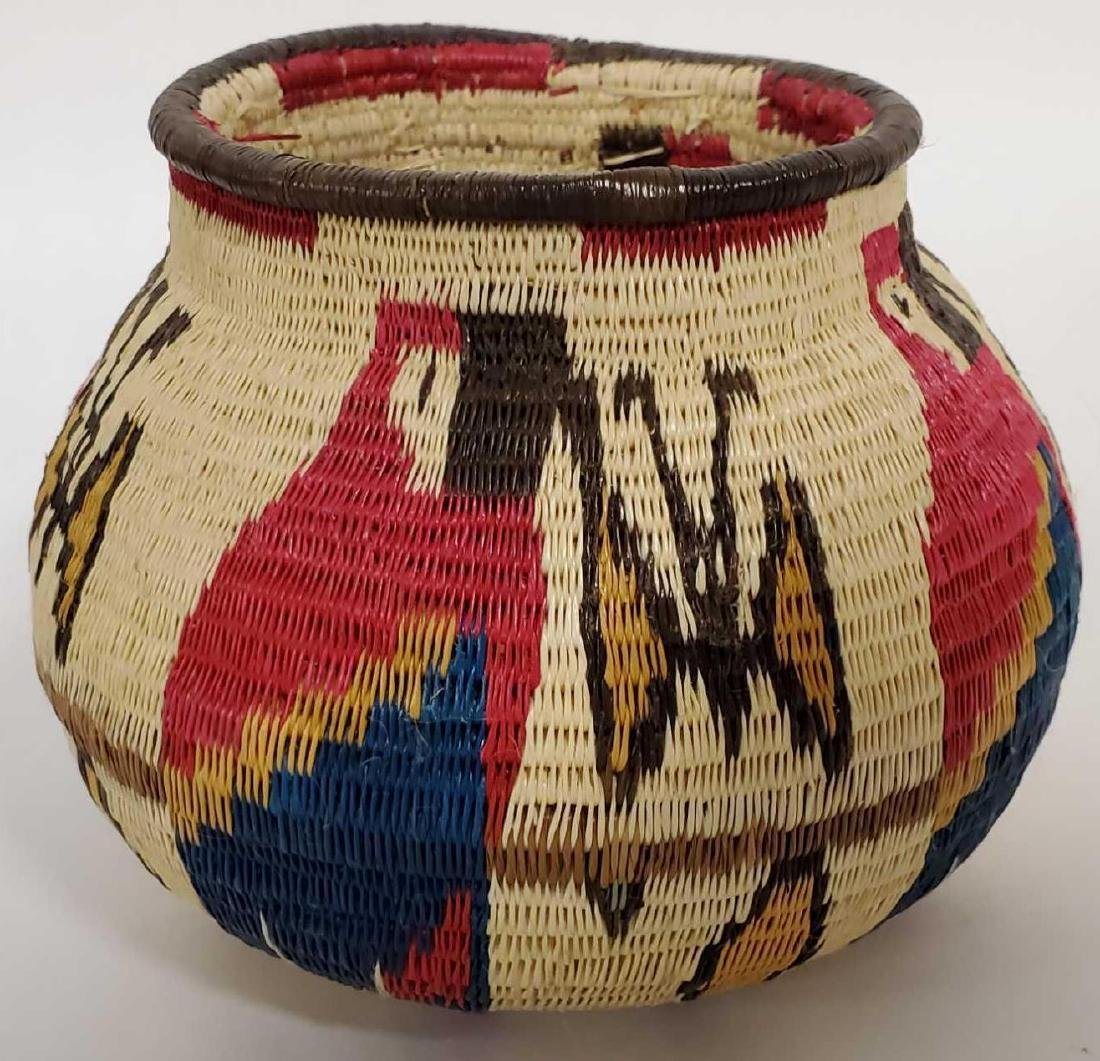 Lot of South American woven baskets, etc. - 4