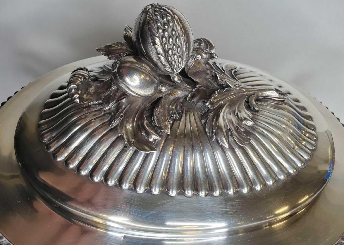 Monumental George IV sterling silver soup tureen c.1824 - 4