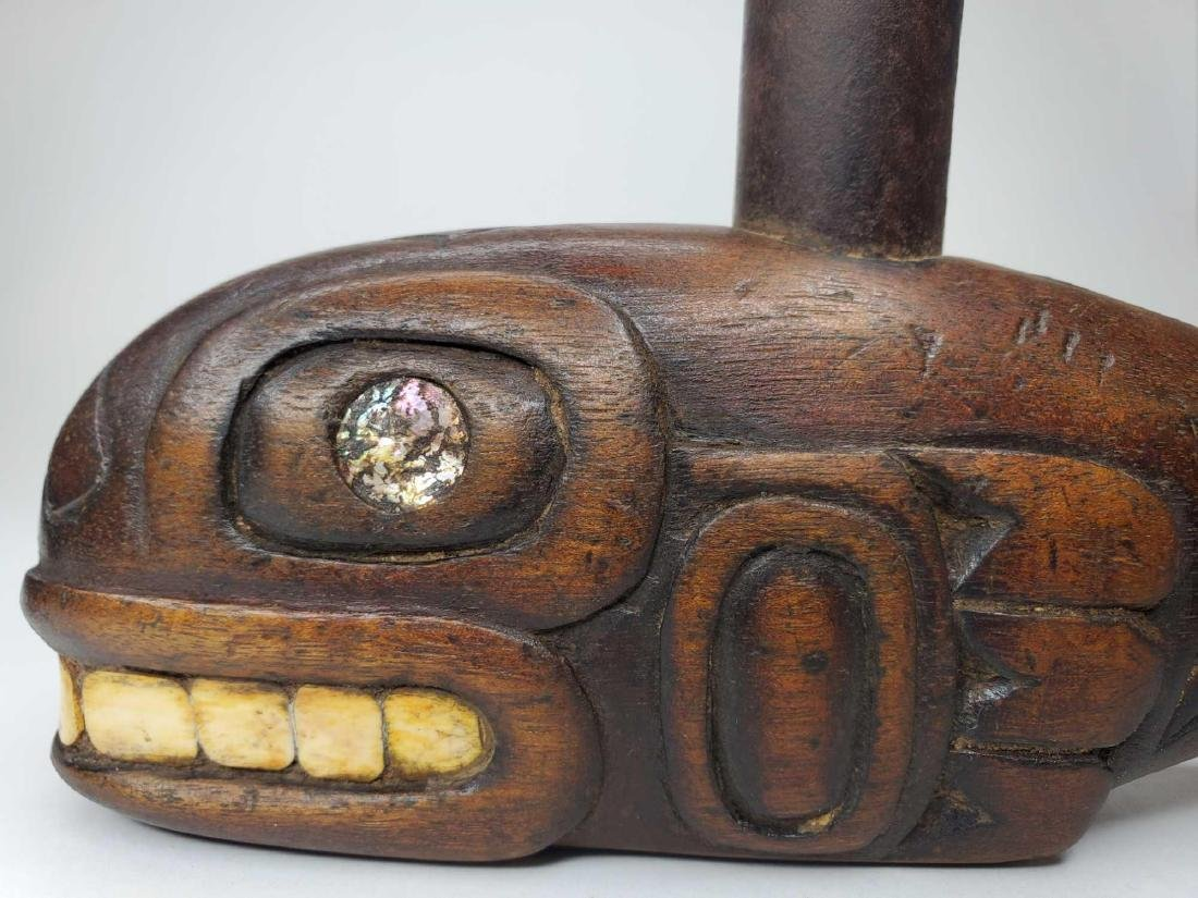19th century Tlingit Orca Effigy Tobacco pipe - 4