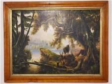 Original oil painting American School 19th century