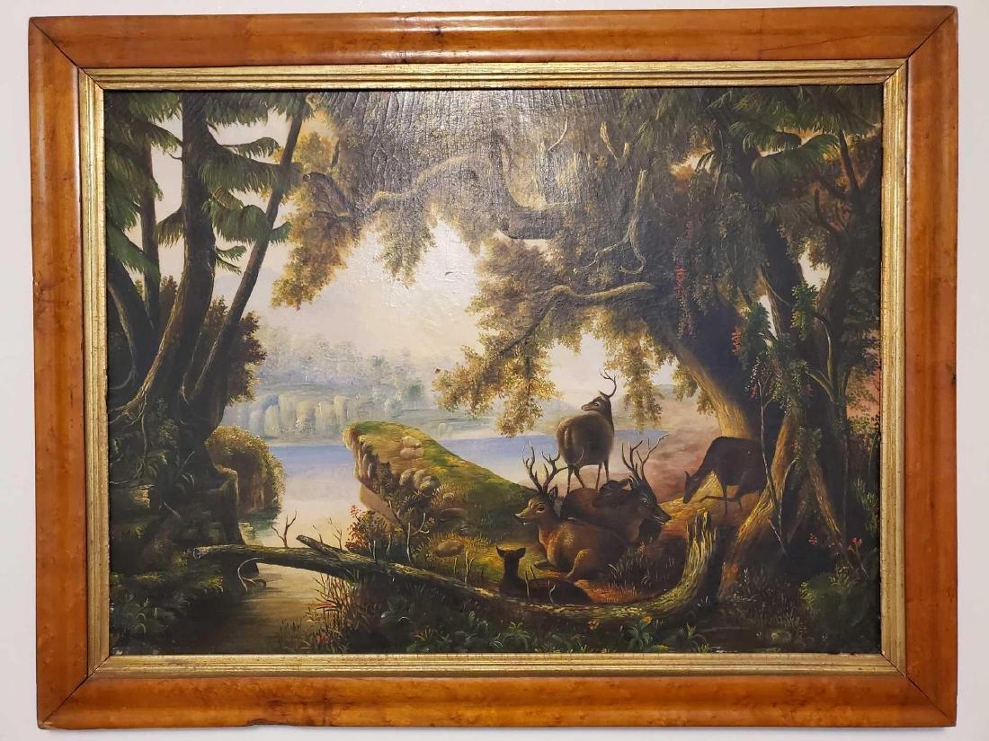 Original oil painting, American School 19th century