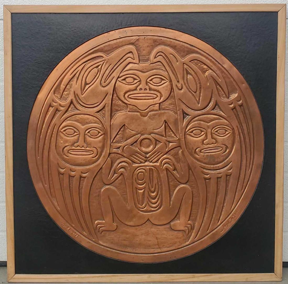 Joseph Illig northwest coast copper plaque