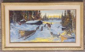 Ellen Henne Goodale (1915-1991) Dog Mushing Scene