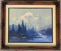 """Ernest Robertson (B. 1939) """"Mt. McKinley"""""""