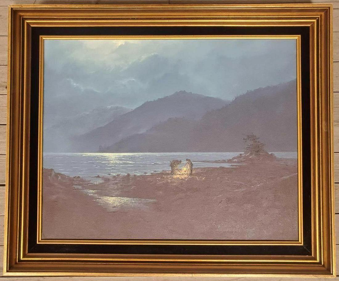 "James Belcher (B. 1941) ""Midnight Clam Tide"""