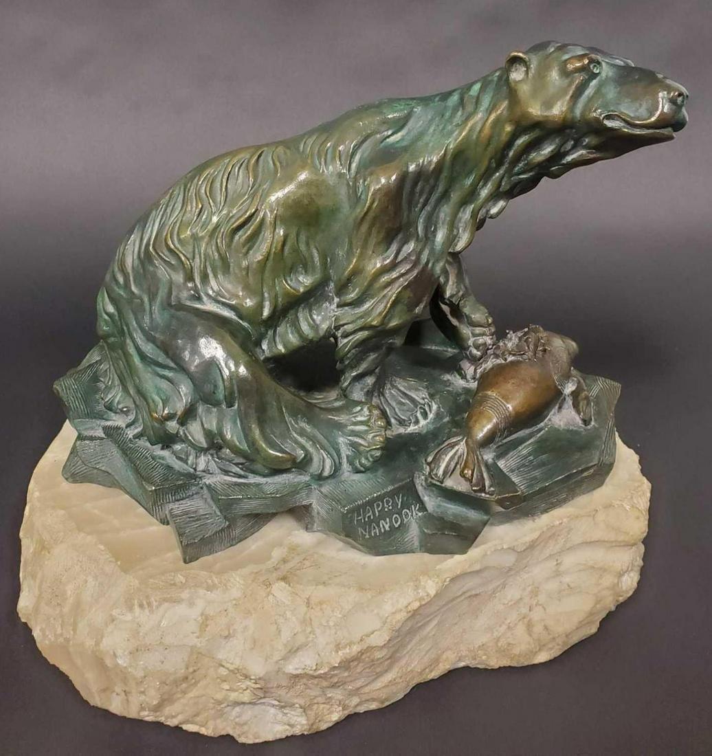 "Mary Frances DeHart (B. 1941) ""Happy Nanook"" Bronze"