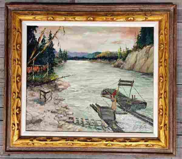 Harvey Goodale (1900-1980) Fish Camp Scene