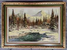 Ellen Henne Goodale (1915-1991) Winter Landscape