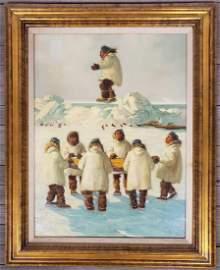 Ellen Henne Goodale (1915-1991) Eskimo Blanket Toss