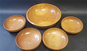 Set of Wooden Salad Bowls