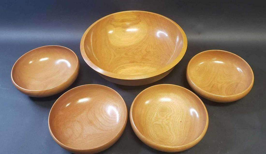 Set of Wooden Salad Bowls