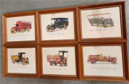 Decorator Prints of Antique Trucks