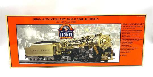 Lionel 100th Anniversary Gold 700E Hudson w/ Display Ca