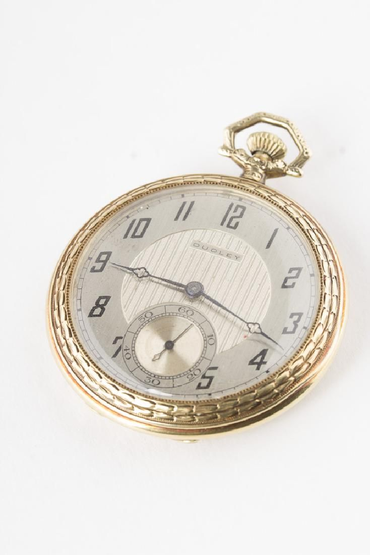 Rare DUDLEY Model 1 Mason's Pocket watch in 14KT Gold