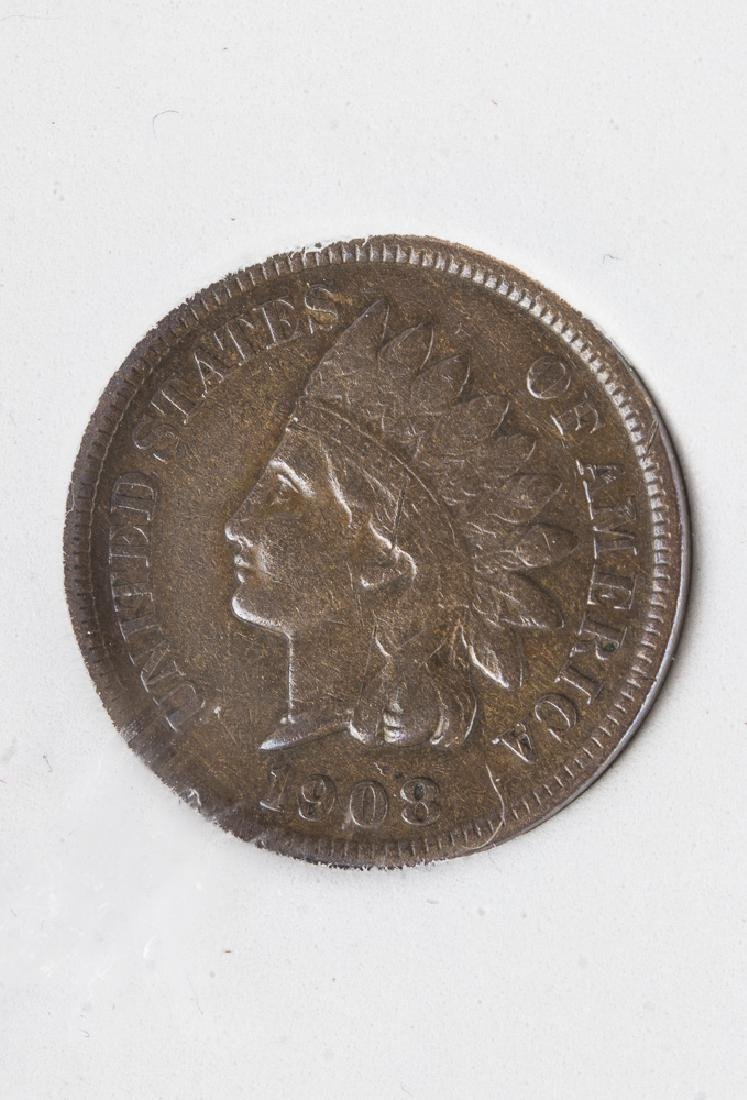 1908 S US Indian Head Cent