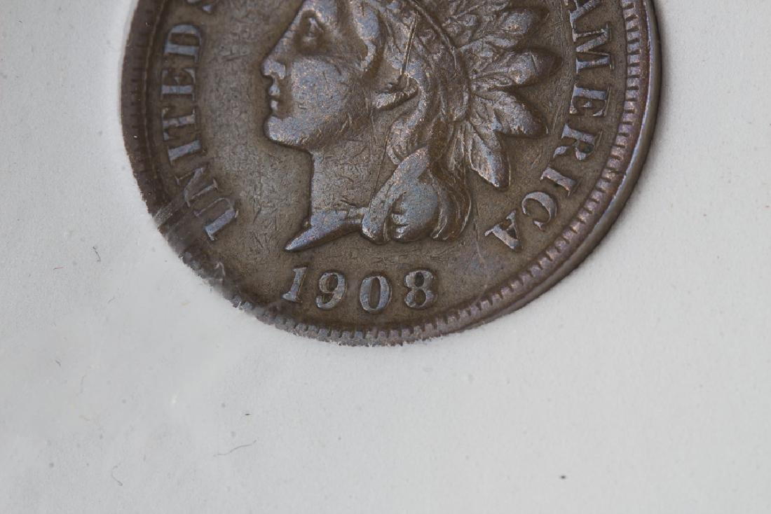 1908 S US Indian Head Cent - 3