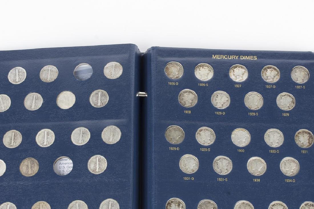 US Mercury Dime book 1916-1945 With 75 Dimes - 2