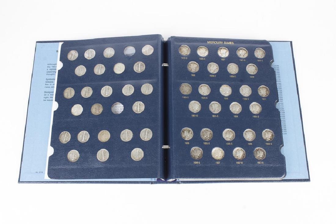 US Mercury Dime book 1916-1945 With 75 Dimes - 3