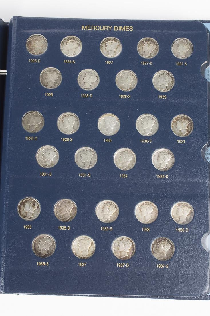 US Mercury Dime book 1916-1945 With 75 Dimes - 4