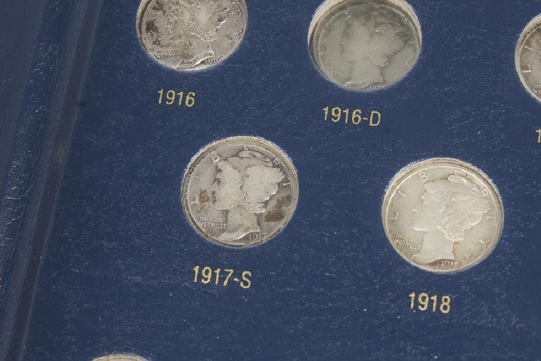 US Mercury Dime book 1916-1945 With 75 Dimes - 6