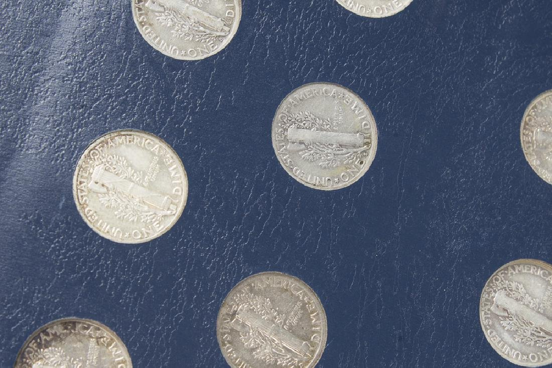 US Mercury Dime book 1916-1945 With 75 Dimes - 8