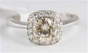 1Ct Chocolate Diamond in 18KT White Gold Ring